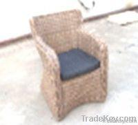 Alum.wicker sofa chair
