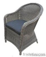 Alum wicker chair