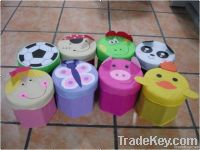 non-woven+210D polyester fancy home storage stool