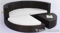 wicker furniture round sectional rattan sofa set wjk-sf-03