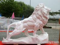 White marble lions