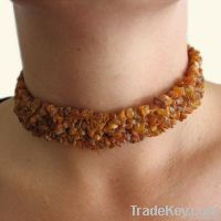 Raw Baltic Amber Necklace - intensive