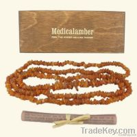 Raw Baltic Amber Necklace - long