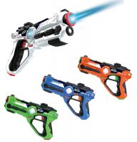 Laser Gun Set For Kids And Adults, Infrared Laser Tag Game For Boys & Girls (2 Blasters Included), Cool Blaster Sounds With Optional 4 team Multiplayer Selection