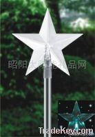 The solar lamp with litter star edge of insert plane