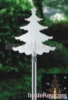 The solar lamp with Christmas tree edge of insert plane