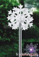 The solar lamp with litter snowflake edge of insert stereo