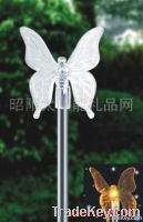 Stainless steel independent type plastic transparent butterfly solar l
