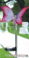 The new type solar lamp with optical fiber butterfly edge