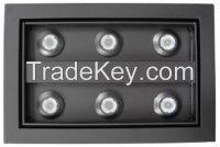 6*3W 230V LED Jewellery Lights with 6350K~7000K CCT for Handicraft Lighting