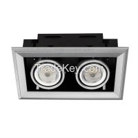 3200lm High CRI 40W LED Square Gimbal Downlight for Shop Windows Lighting
