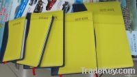 Colourful leather cover note books