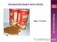 Roasted peanuts with coffee