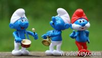 Green nontoxic plastic/rubber lovely cartoon SMURFS toy suit