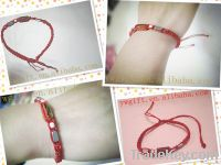 nationality handmade luky red rope weave bracelet