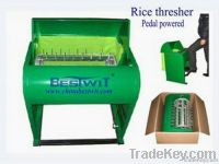 Rice Thresher by pedal powered