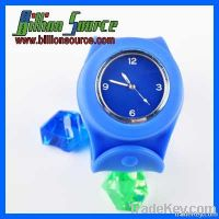 Silicone Slap on Wrist Watch