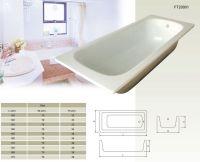 steel and cast iron bathtub