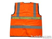 High visibility traffic reflective safety vest roadway