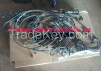 BOYA Hammered Forged Iron Decorative Panel