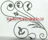 Forged Iron Grill Rosette Baluster wtih flowers