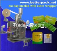 automated tea bag machine with outer envelope tea bag packaging machine