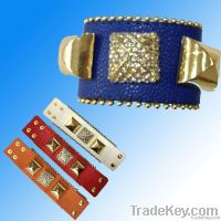 Bracelet/ Leather Jewelry/ Leather Bracelet (XJW1629)