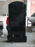 Black shanxi granite tombstone design