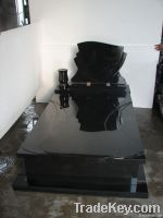 Black shanxi granite tombstone price