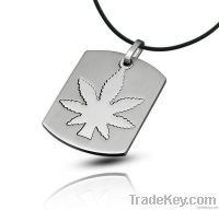 Maple Leaf  Stainless Steel Pendant Jewelry