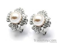 Pearl Stone Silver Earring Tops