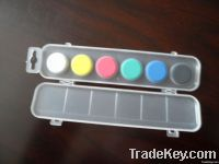 water color cake in plastic box