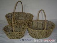 flower basketry/paper basketry crafts/rattan storage basketry