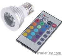 3W LED RGB Bulb with a controller