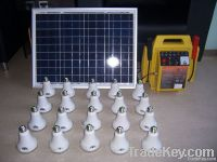 Portable Solar Generator With LED Bulb