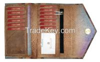 Leather Purse Organizer Checkbook Wallet