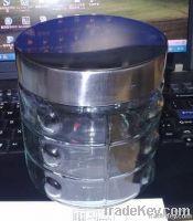 storage glass jar with screw lid
