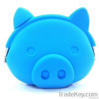 2013 brand new pig face silicone coin purse