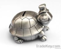 lovely turtle shape metal money boxes