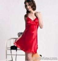 100% natural silk nightgown/sleepwear/nightclothes