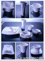 White Porcelain Drinkware Set (Twisted Style)