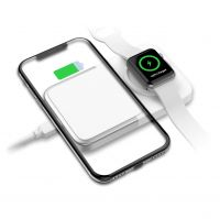 A6 10W Qi 3-in-1 Wireless Charger Pad LED Light Fast Charging Wireless Charger for mobile phone and apple watch