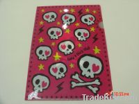 pp plastic L shape file folder envelop