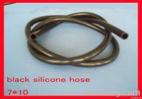 black silicone rubber hose