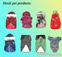Stock pet clothing