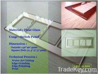 Glass switch panel