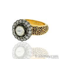 14k Gold, Diamond Jewelry Ring, Rose cut diamond