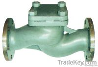 marine cast steel flanged check valve
