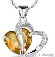 925 silver pandent necklace for fashion jewelry set