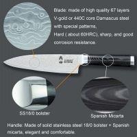 Popular high grade damascus knife set